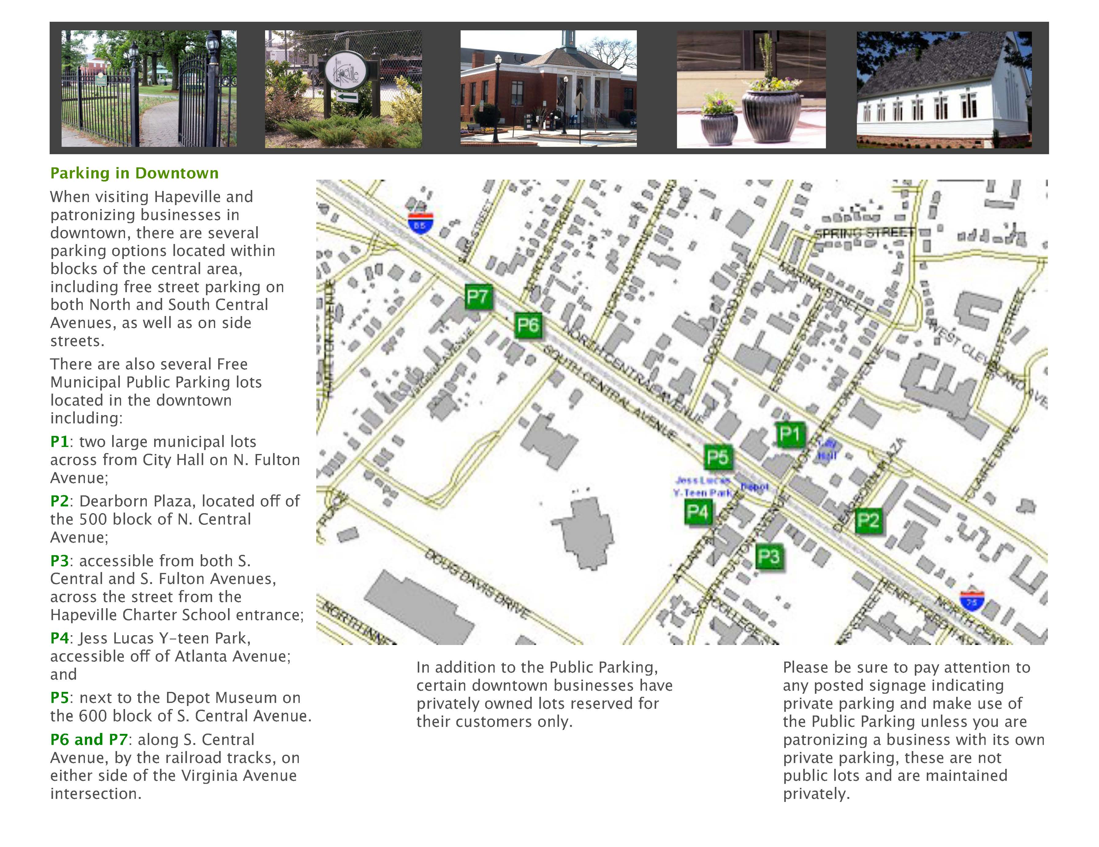 Parking Brochure and Map