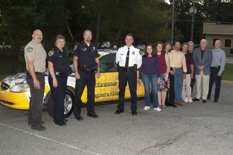 The 2011 Citizen's Police Academy graduating class