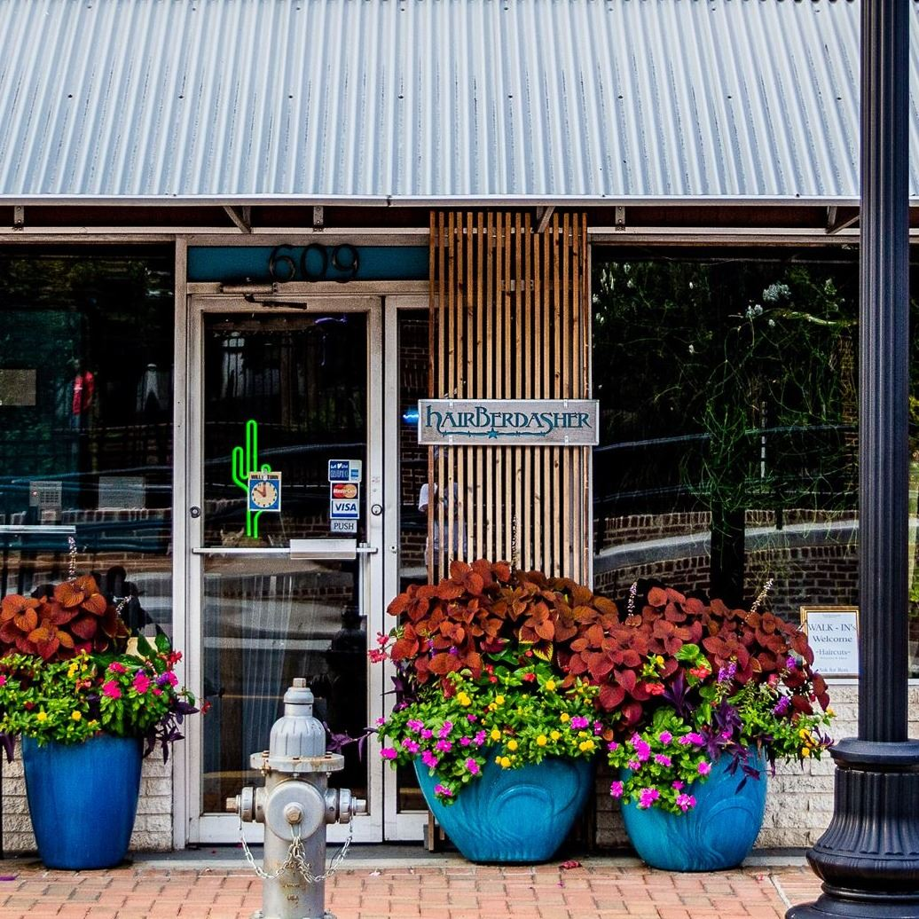 Hapeville Storefront with potted Plants